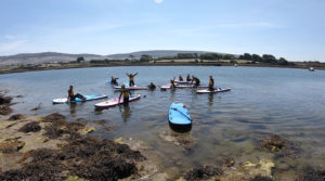 Kids and families paddleboarding in Clare